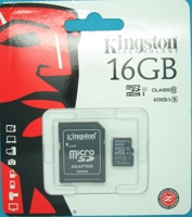 Карта памяти MicroSDHC 16Gb Class 10 UHS-1, 80MB/s+SD адаптер