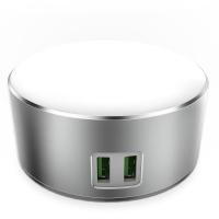 Универсальное зарядное USB LDNIO A2208  2 порта, ночник